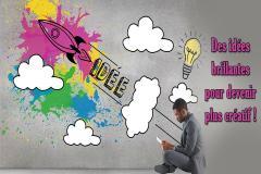 Vous vous êtes déjà demandé pourquoi certaines idées nous arrivent, comment ça, sans crier gare? Et à d'autres moments, nous luttons pour trouver le mot adéquat ou LA solution au problème? Pas de recette magique pour avoir des idées géniales! Mais des scientifiques nous font part de quelques astuces pour devenir plus créatif. Découvrez quelques secrets pour être plus créatif au quotidien.