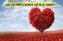 Y a -t-il plusieurs types d'amour ? Quel amour avez vous vécu ? Quel est le meilleur amour ?