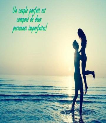 Une relation parfaite n'existe pas.C'est parce qu'une relation parfaite deviendrait ennuyeuse après un moment.Une relation doit toujours changer et évoluer.