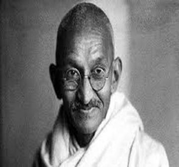 Le Mahatma Gandhi le -leader -indien qui a imposé une politique de paix afin d'obtenir ses objectifs