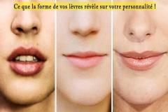 Beaucoup de formes et tailles différentes de votre corps peuvent révéler quelque chose sur le genre de personne que vous êtes. C'est le cas pour vos lèvres !