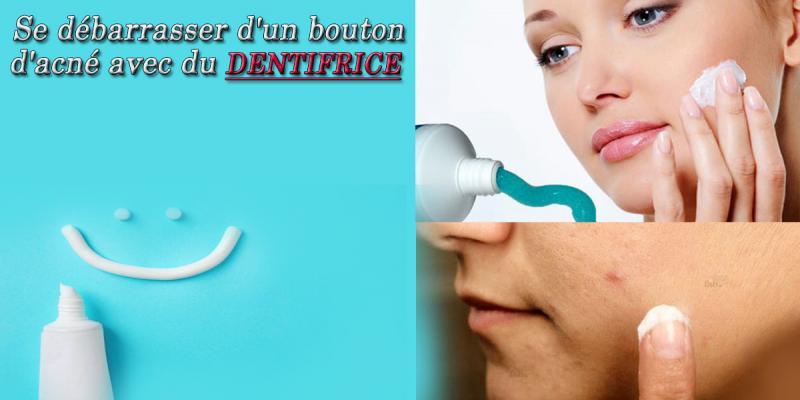 Cet article va vous montrer comment vous débarrasser d'un bouton ou du moins le rendre plus discret avec un peu de pâte dentifrice.